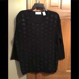 Dressy long sleeve embellished sweater